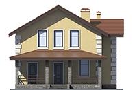 Проект бетонного дома 58-13 фасад