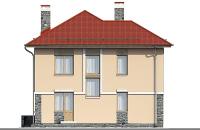 Проект бетонного дома 58-17 фасад