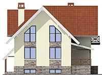 Проект бетонного дома 58-18 фасад
