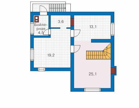 Проект бетонного дома 58-18 план