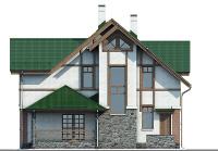 Проект бетонного дома 58-19 фасад