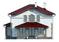 Проект бетонного дома 58-21 фасад