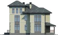 Проект бетонного дома 58-22 фасад