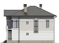 Проект бетонного дома 58-24 фасад
