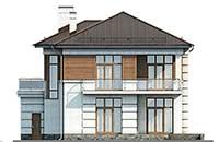 Проект бетонного дома 58-25 фасад