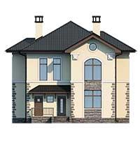 Проект бетонного дома 58-31 фасад