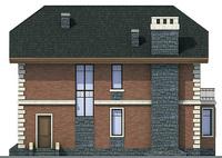 Проект бетонного дома 58-32 фасад