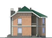 Проект бетонного дома 58-33 фасад