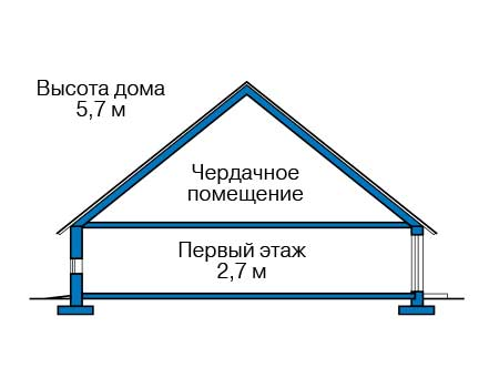 Проект бетонного дома 58-35 план