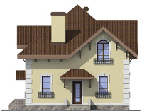 Проект бетонного дома 58-38 фасад