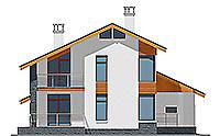 Проект бетонного дома 58-41 фасад