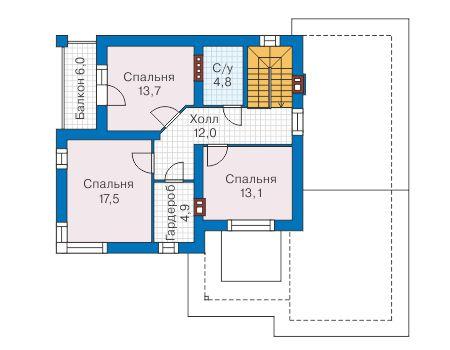 Проект бетонного дома 58-41 план
