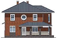 Проект бетонного дома 58-42 фасад