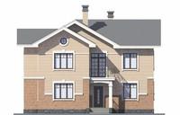Проект бетонного дома 58-44 фасад