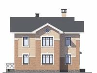 Проект бетонного дома 58-45 фасад