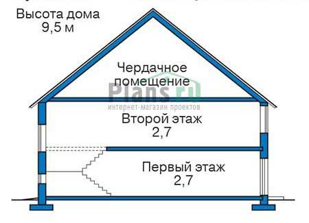 Проект бетонного дома 58-45 план