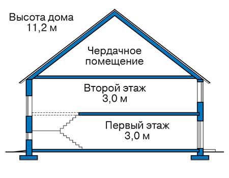 Проект бетонного дома 58-47 план