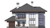 Проект бетонного дома 58-47 фасад