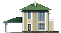 Проект бетонного дома 58-48 фасад