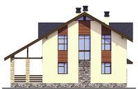 Проект бетонного дома 58-53 фасад
