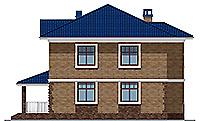 Проект бетонного дома 58-61 фасад