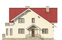 Проект бетонного дома 58-70 фасад