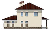 Проект бетонного дома 58-71 фасад