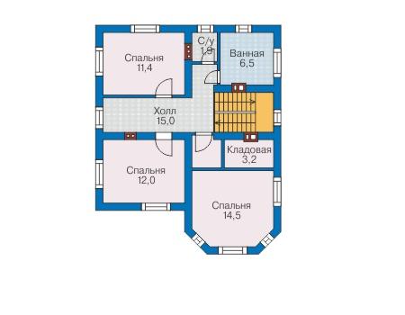 Проект бетонного дома 58-71 план
