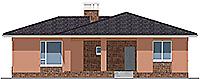Проект бетонного дома 58-72 фасад