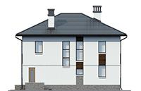 Проект бетонного дома 58-74 фасад