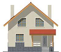 Проект бетонного дома 58-75 фасад