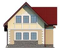 Проект бетонного дома 58-76 фасад