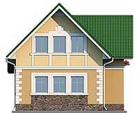 Проект бетонного дома 58-77 фасад