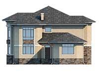 Проект бетонного дома 58-85 фасад