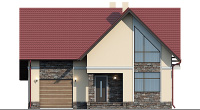Проект бетонного дома 58-89 фасад