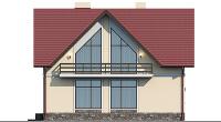 Проект бетонного дома 58-90 фасад