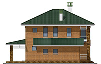 Проект бетонного дома 58-93 фасад