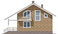 Проект бетонного дома 58-94 фасад