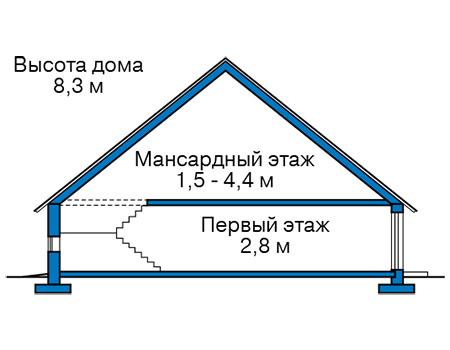 Проект бетонного дома 58-94 план
