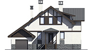 Проект бетонного дома 58-95 фасад