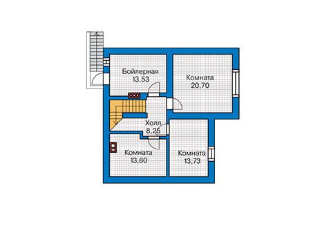 Проект бетонного дома 58-95 план