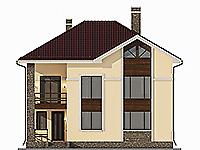 Проект бетонного дома 58-97 фасад