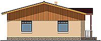 Проект бетонного дома 59-02 фасад