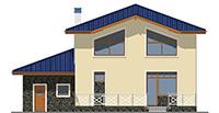 Проект бетонного дома 59-03 фасад