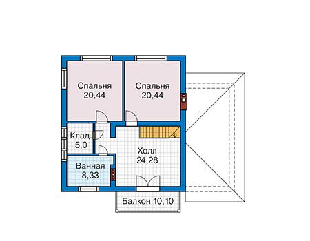 Проект бетонного дома 59-03 план