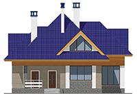 Проект бетонного дома 59-12 фасад