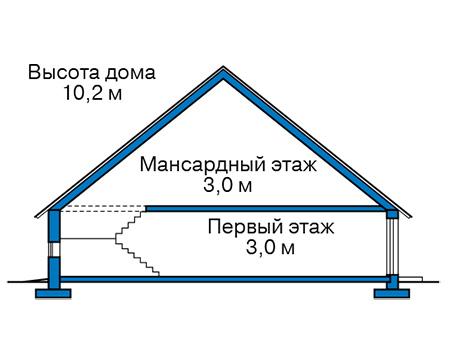 Проект бетонного дома 59-12 план