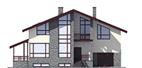Проект бетонного дома 59-20 фасад