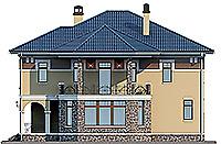 Проект бетонного дома 59-26 фасад