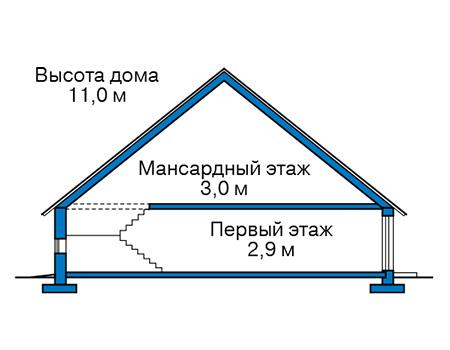 Проект бетонного дома 59-26 план